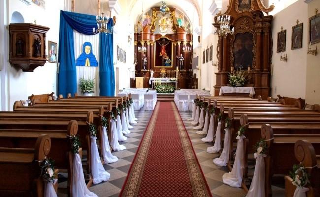 Dekoracje kościołów na I Komunię Świętą